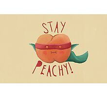 stay peachy  Photographic Print