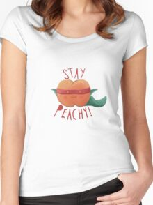 stay peachy  Women's Fitted Scoop T-Shirt