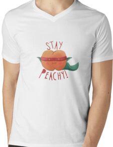stay peachy  Mens V-Neck T-Shirt