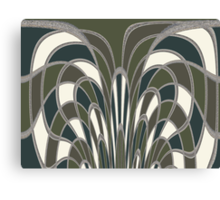 Trellis in Moss Green Canvas Print