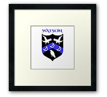 WATSON COAT OF ARMS Framed Print
