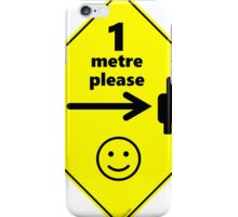 Safety First for Cyclists (AU, UK) iPhone Case/Skin