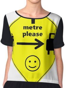 Safety First for Cyclists (AU, UK) Chiffon Top