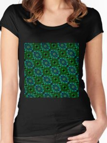 Abstract Design Pattern 535C Women's Fitted Scoop T-Shirt