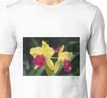 yellow and pink orchid Unisex T-Shirt