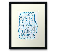 Bubble Alphabet Framed Print