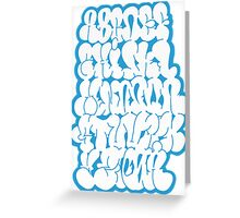 Bubble Alphabet Greeting Card