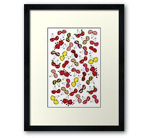 Oh, I'm Mad About Cheeky Cherries Pattern Framed Print