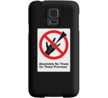 Absolutely No Thwip Samsung Galaxy Case/Skin