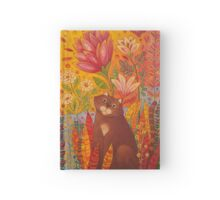 Cat in the Garden Hardcover Journal
