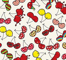 Oh, I'm Mad About Cheeky Cherries Pattern by fatfatin