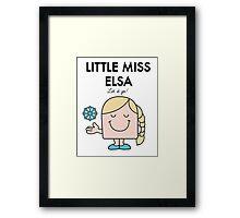 Little Miss Elsa Framed Print
