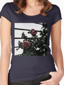 Dark Roses Women's Fitted Scoop T-Shirt