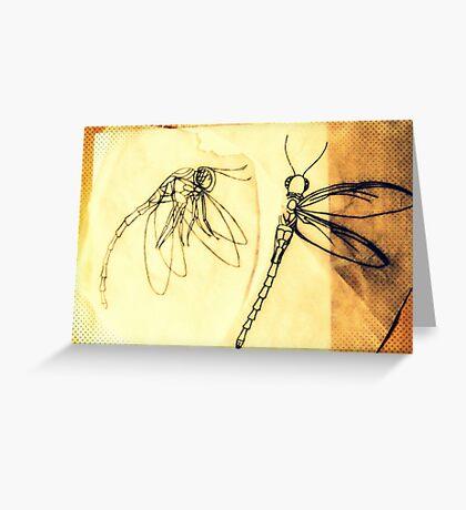 dragonfly stencil Greeting Card