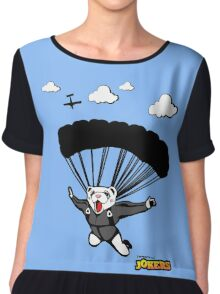 Skydiving Ferret  Chiffon Top