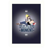 Cloud and Tifa - Moment Art Print