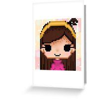 Pixel Mabel Greeting Card