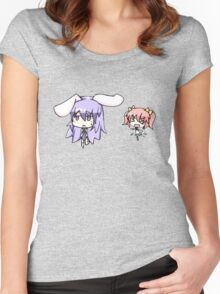 Cute Bunny Suit Girl Women's Fitted Scoop T-Shirt