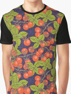 mysterious night in space garden with cherry tomatoes and basil Graphic T-Shirt