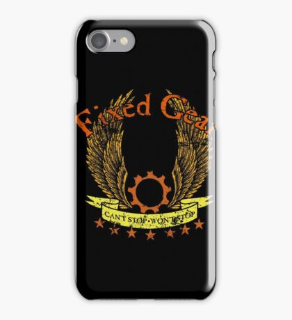 Fixed Gear - Cant Stop Wont Stop! iPhone Case/Skin