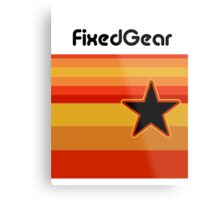 Fixed Gear Retro Star Metal Print