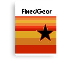 Fixed Gear Retro Star Canvas Print