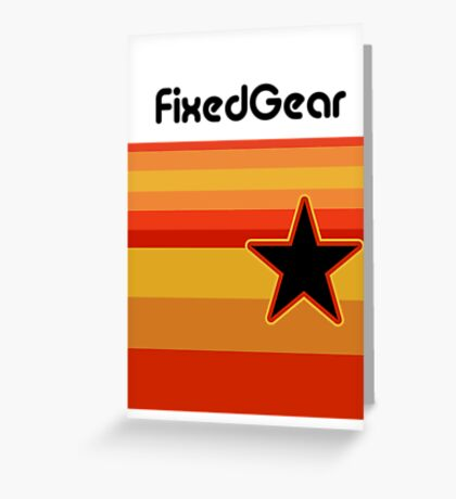 Fixed Gear Retro Star Greeting Card