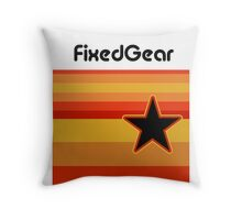 Fixed Gear Retro Star Throw Pillow