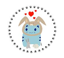 Steve loves bunnies! by lokiimotion