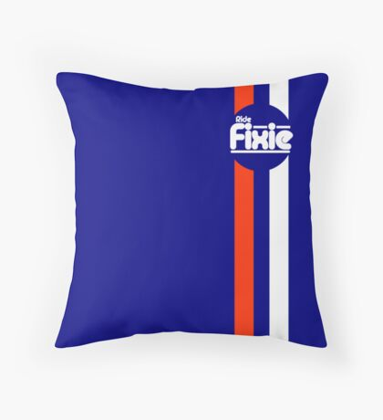 Fixie Strips Throw Pillow