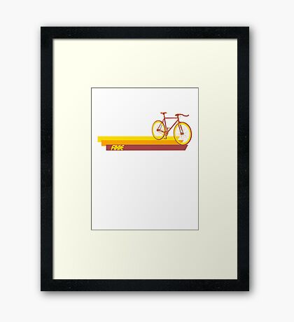 Fixie Retro Stripes Framed Print