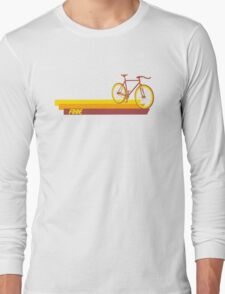 Fixie Retro Stripes Long Sleeve T-Shirt