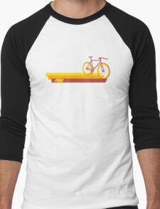 Fixie Retro Stripes Men's Baseball ¾ T-Shirt