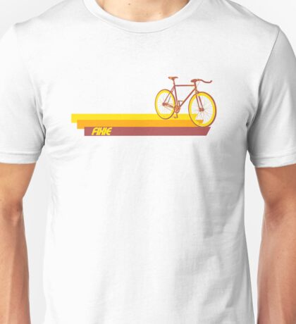 Fixie Retro Stripes Unisex T-Shirt