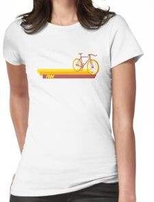 Fixie Retro Stripes Womens Fitted T-Shirt