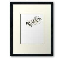 Fixed Gear Sketch Framed Print