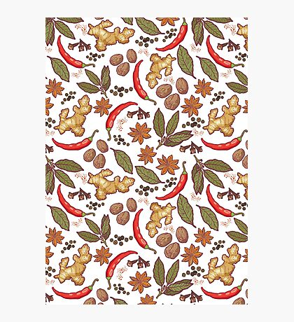 Spices pattern Photographic Print