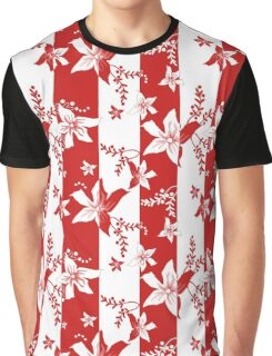Seamless flowers retro pattern with stripes background Graphic T-Shirt