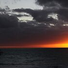 Brilliant sunset at Henley Beach, South Australia by indiafrank