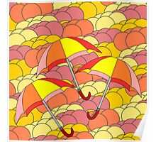 Colorful summer rain Poster