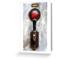 25.6.2016: Old Switch and Indicator Light Greeting Card