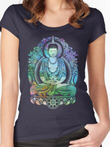 Cosmic Buddha Spectrum Women's Fitted Scoop T-Shirt
