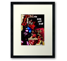 The Heart Wants (Red Collage) Framed Print