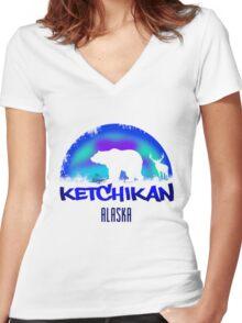 Ketchikan Alaska Women's Fitted V-Neck T-Shirt
