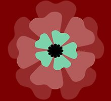 Red Flower 1 by kreativekate