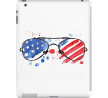 Hipster Glasses with stars and strips. iPad Case/Skin
