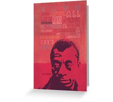 James Baldwin Quote Poster Greeting Card