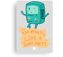 BMO Party Don't Stop. Canvas Print