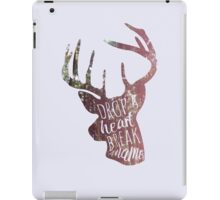 drop a heart, break a name iPad Case/Skin