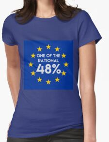 One of the rational 48% - EU Referendum Womens Fitted T-Shirt